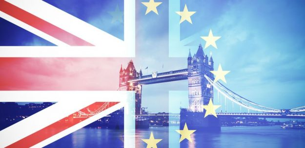 London Bridge and the European Flag depicting Britain and Brexit